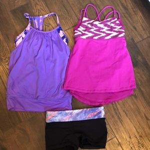 Ivivva Tank and short lot Size 7